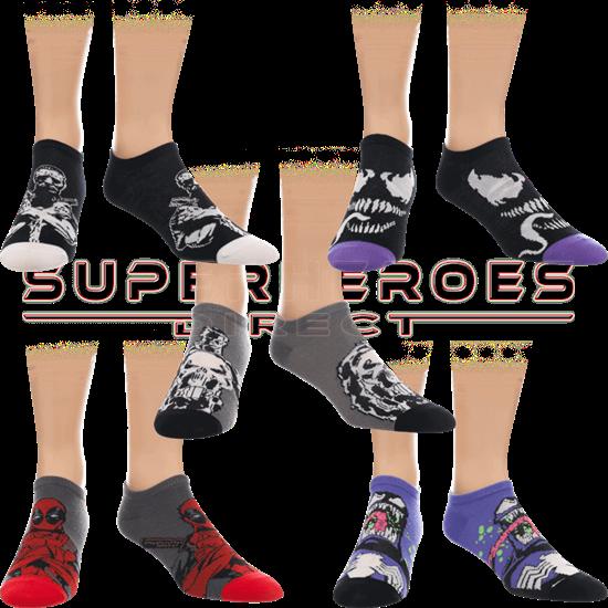 Dark Marvel Character Ankle Sock 5-Pack