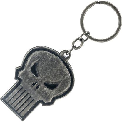 Punisher Logo Metal Keychain