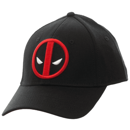 Deadpool Logo Black Flex Cap