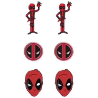Deadpool Earrings 3 Pack Set