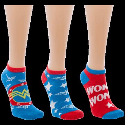 Wonder Woman Ankle Socks 3 Pack