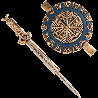 Wonder Woman Sword and Shield Hair Clip Set