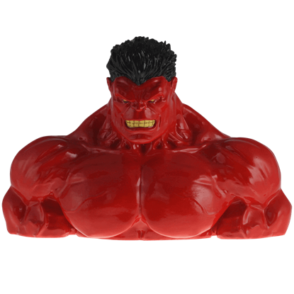 Red Hulk Resin Coin Bank