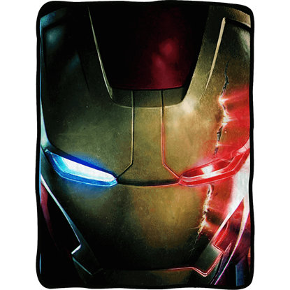 Avengers 2 Iron Man Face Fleece Blanket