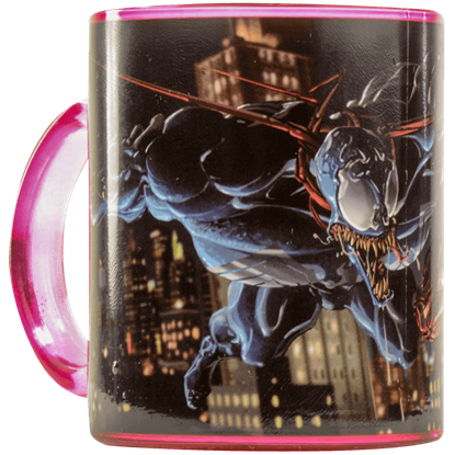 Venom and Carnage Fight Glass Mug