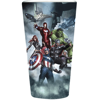 Avengers with Loki Pint Glass