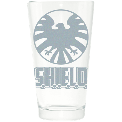 SHIELD Etched Pint Glass
