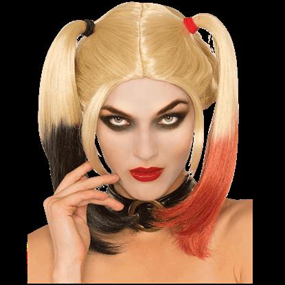Arkham Knight Adult Harley Quinn Wig