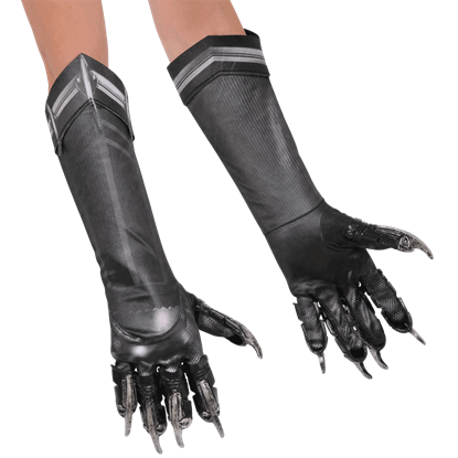 Adult Deluxe Black Panther Gloves