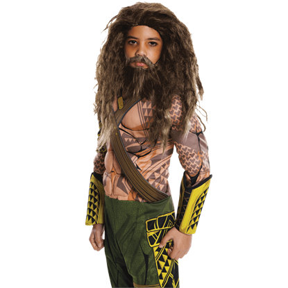 Kids Dawn of Justice Aquaman Wig and Beard Set