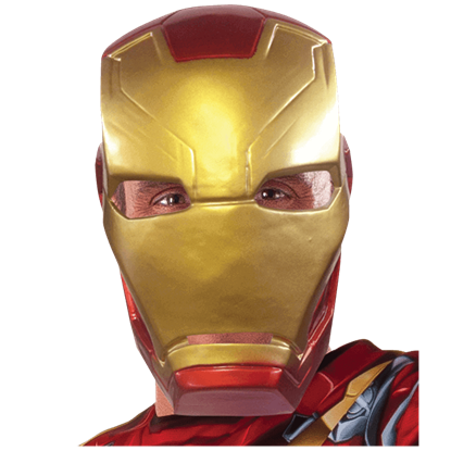 Adult Civil War Iron Man Half Mask