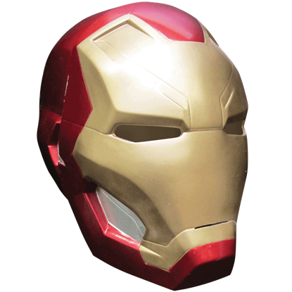 Adult Civil War Iron Man Two Piece Mask