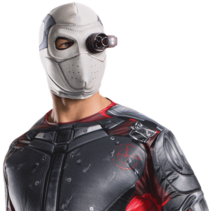 Adult Deadshot Light-Up Fabric Mask