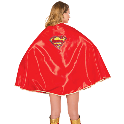 Adult Deluxe Satin Supergirl Cape