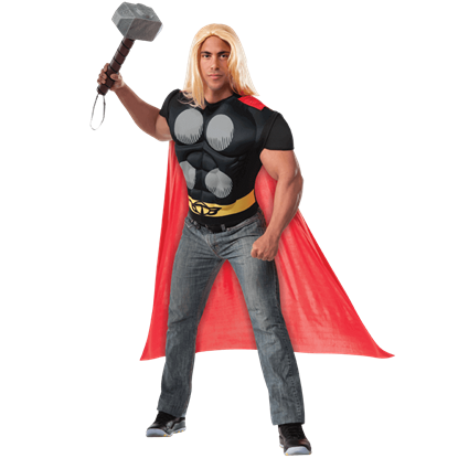Adult Deluxe Thor Costume Top with Cape