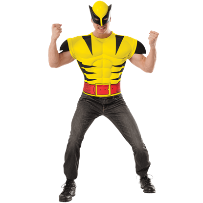 Adult Deluxe Wolverine Costume Top and Mask Set