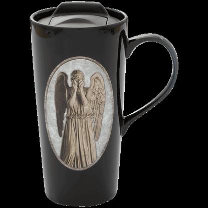 Doctor Who Weeping Angel Heat Reactive Travel Mug