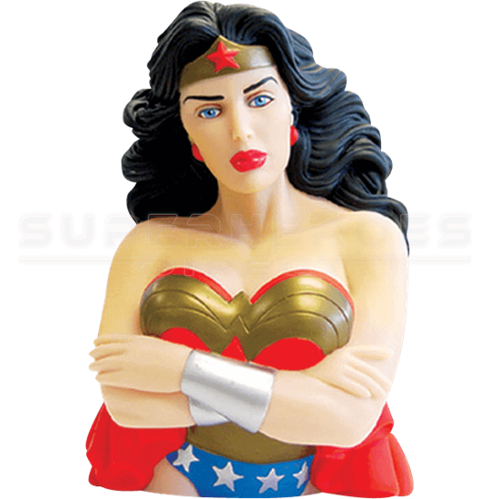 Ever Wonder Where That Iconic Bust Of >> Classic Wonder Woman Bust Bank Mg 44121 At Superhero T Shirts