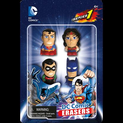 DC Heroes 4 Pack Eraser Set