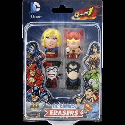 DC 4 Pack Eraser Set
