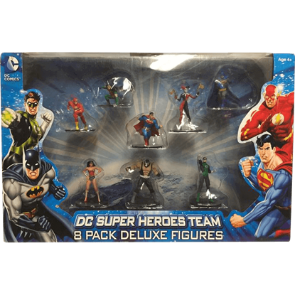 Deluxe DC Comics 8 Piece Figure Set