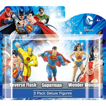 Deluxe DC Characters 3 Piece Figure Set