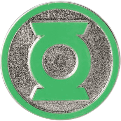 Colored Green Lantern Logo Lapel Pin