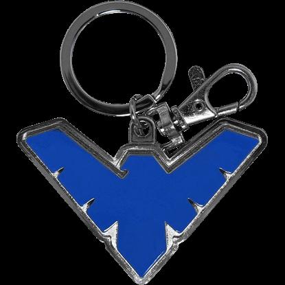 Blue Nightwing Emblem Keychain