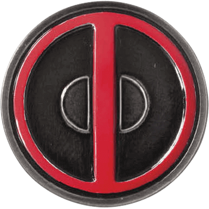 Colored Deadpool Logo Lapel Pin