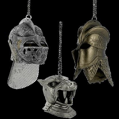 Game of Thrones Helmet Ornament Set