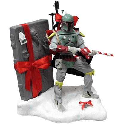 Star Wars Fabric Mache Christmas Boba Fett Statue