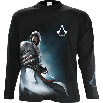 Assassins Creed Altair Side Print Long Sleeve T-Shirt