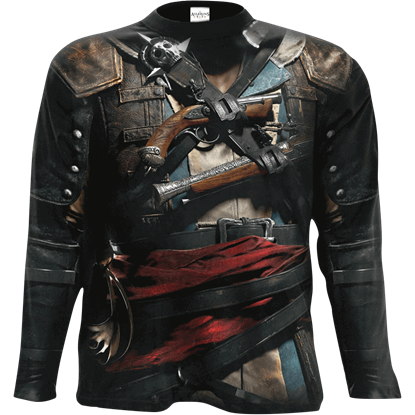 Assassins Creed IV Black Flag Edward Uniform Long Sleeve T-Shirt