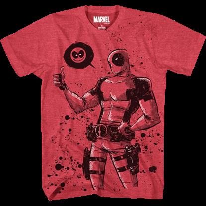 Mens Deadpool Thumbs Up T-Shirt