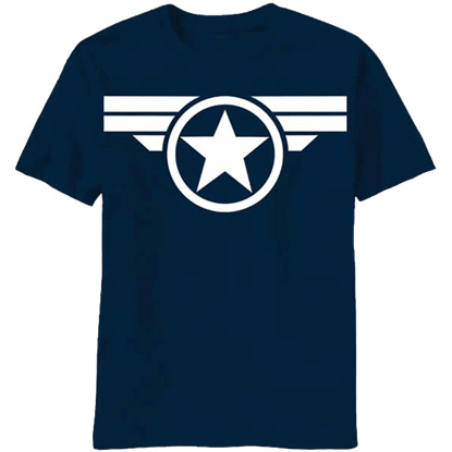 Blue and White Star Captain America T-Shirt