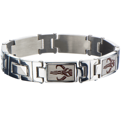 Mens Star Wars Mandalorian Symbol Link Bracelet