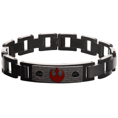 Rebel Alliance Black ID Plate Link Bracelet