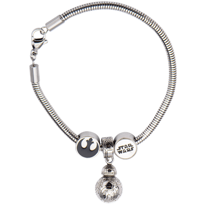 Force Awakens BB-8 Rebel Alliance Charm Bracelet