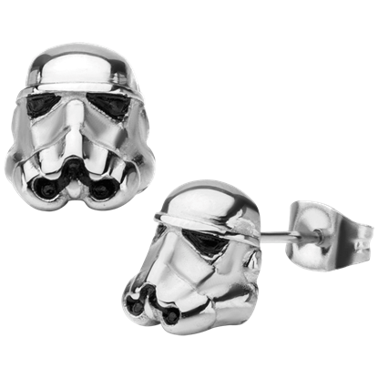 3D Stormtrooper Stud Earrings