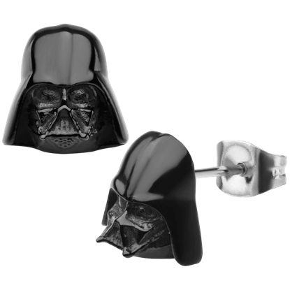 Darth Vader Black 3D Stud Earrings