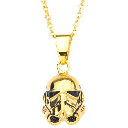 3D Stormtrooper Gold Necklace
