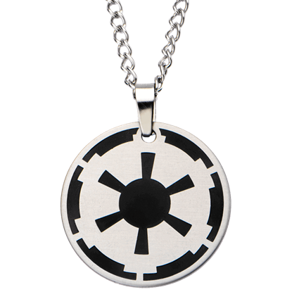 Black Galactic Empire Steel Enamel Necklace
