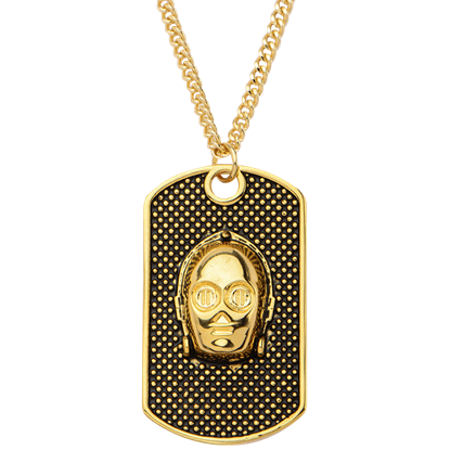 C-3PO Dog Tag Necklace
