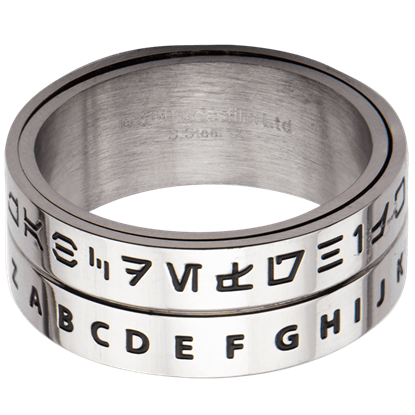 Aurebesh Spinner Ring