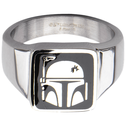 Boba Fett Helmet Signet Ring