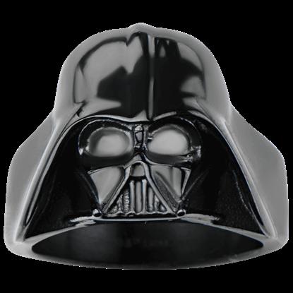 Darth Vader Black Large 3D Helmet Ring