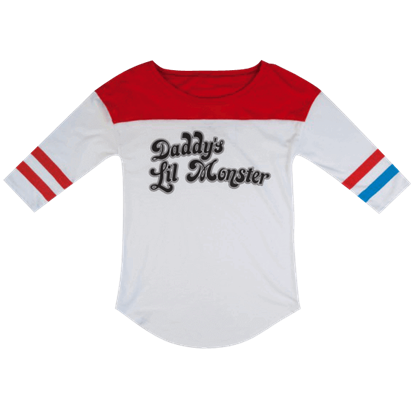Suicide Squad Daddys Lil Monster Raglan Shirt