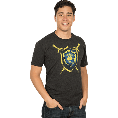 Mens Premium Warcraft Alliance Coat of Arms T-Shirt