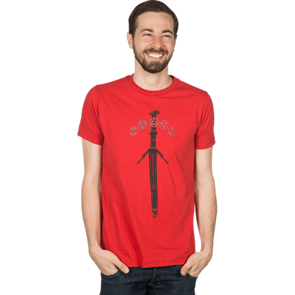 Mens Premium Witcher 3 Silver Sword T-Shirt