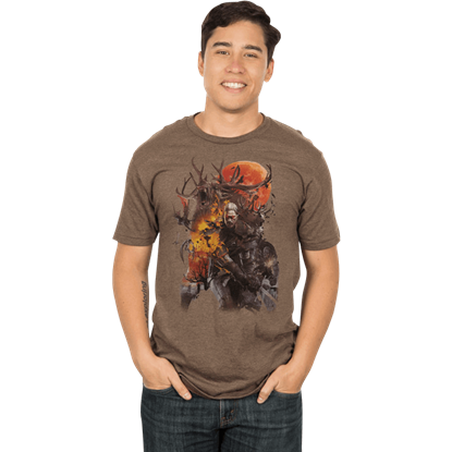 Mens Premium Witcher 3 Monster Slayer T-Shirt
